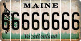 Maine 6 Cut License Plate Strips (Set of 8) LPS-ME1-033