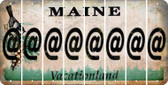 Maine ASPERAND Cut License Plate Strips (Set of 8) LPS-ME1-039