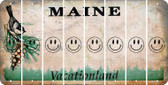 Maine SMILEY FACE Cut License Plate Strips (Set of 8) LPS-ME1-089