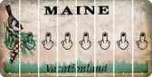 Maine MIDDLE FINGER Cut License Plate Strips (Set of 8) LPS-ME1-091