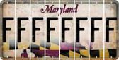 Maryland F Cut License Plate Strips (Set of 8) LPS-MD1-006