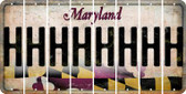 Maryland H Cut License Plate Strips (Set of 8) LPS-MD1-008