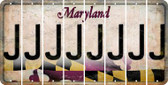 Maryland J Cut License Plate Strips (Set of 8) LPS-MD1-010