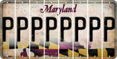 Maryland P Cut License Plate Strips (Set of 8) LPS-MD1-016