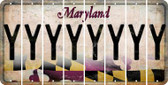 Maryland Y Cut License Plate Strips (Set of 8) LPS-MD1-025