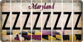 Maryland Z Cut License Plate Strips (Set of 8) LPS-MD1-026