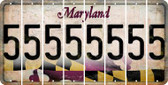Maryland 5 Cut License Plate Strips (Set of 8) LPS-MD1-032
