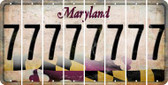 Maryland 7 Cut License Plate Strips (Set of 8) LPS-MD1-034