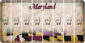 Maryland CAT Cut License Plate Strips (Set of 8) LPS-MD1-072