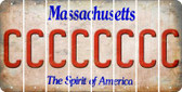 Massachusetts C Cut License Plate Strips (Set of 8) LPS-MA1-003
