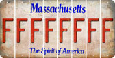 Massachusetts F Cut License Plate Strips (Set of 8) LPS-MA1-006
