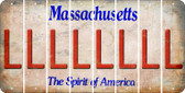 Massachusetts L Cut License Plate Strips (Set of 8) LPS-MA1-012