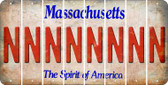 Massachusetts N Cut License Plate Strips (Set of 8) LPS-MA1-014