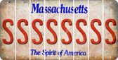 Massachusetts S Cut License Plate Strips (Set of 8) LPS-MA1-019