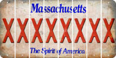 Massachusetts X Cut License Plate Strips (Set of 8) LPS-MA1-024