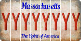 Massachusetts Y Cut License Plate Strips (Set of 8) LPS-MA1-025