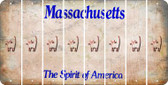 Massachusetts CAT Cut License Plate Strips (Set of 8) LPS-MA1-072