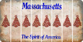 Massachusetts CHRISTMAS TREE Cut License Plate Strips (Set of 8) LPS-MA1-077