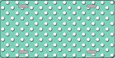 Mint White Polka Dot Wholesale Metal Novelty License Plate