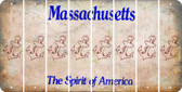 Massachusetts ANCHOR Cut License Plate Strips (Set of 8) LPS-MA1-093