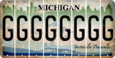 Michigan G Cut License Plate Strips (Set of 8) LPS-MI1-007