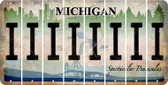 Michigan I Cut License Plate Strips (Set of 8) LPS-MI1-009