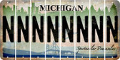 Michigan N Cut License Plate Strips (Set of 8) LPS-MI1-014