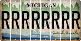Michigan R Cut License Plate Strips (Set of 8) LPS-MI1-018