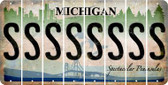 Michigan S Cut License Plate Strips (Set of 8) LPS-MI1-019