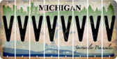 Michigan V Cut License Plate Strips (Set of 8) LPS-MI1-022