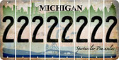 Michigan 2 Cut License Plate Strips (Set of 8) LPS-MI1-029