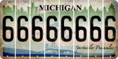 Michigan 6 Cut License Plate Strips (Set of 8) LPS-MI1-033
