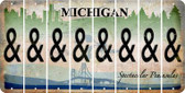 Michigan AMPERSAND Cut License Plate Strips (Set of 8) LPS-MI1-049