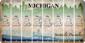 Michigan BABY GIRL Cut License Plate Strips (Set of 8) LPS-MI1-067