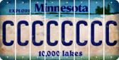 Minnesota C Cut License Plate Strips (Set of 8) LPS-MN1-003