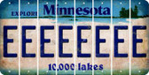Minnesota E Cut License Plate Strips (Set of 8) LPS-MN1-005