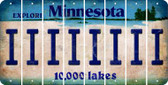 Minnesota I Cut License Plate Strips (Set of 8) LPS-MN1-009