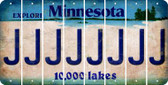Minnesota J Cut License Plate Strips (Set of 8) LPS-MN1-010