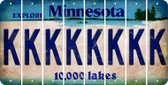 Minnesota K Cut License Plate Strips (Set of 8) LPS-MN1-011