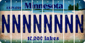Minnesota N Cut License Plate Strips (Set of 8) LPS-MN1-014