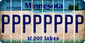 Minnesota P Cut License Plate Strips (Set of 8) LPS-MN1-016