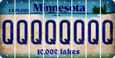 Minnesota Q Cut License Plate Strips (Set of 8) LPS-MN1-017
