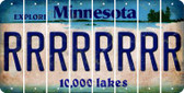 Minnesota R Cut License Plate Strips (Set of 8) LPS-MN1-018