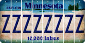 Minnesota Z Cut License Plate Strips (Set of 8) LPS-MN1-026