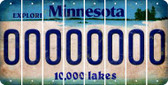 Minnesota 0 Cut License Plate Strips (Set of 8) LPS-MN1-027