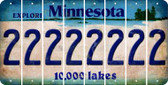 Minnesota 2 Cut License Plate Strips (Set of 8) LPS-MN1-029
