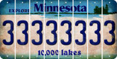 Minnesota 3 Cut License Plate Strips (Set of 8) LPS-MN1-030