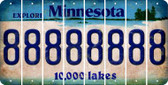 Minnesota 8 Cut License Plate Strips (Set of 8) LPS-MN1-035