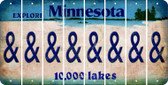 Minnesota AMPERSAND Cut License Plate Strips (Set of 8) LPS-MN1-049