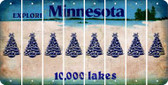 Minnesota CHRISTMAS TREE Cut License Plate Strips (Set of 8) LPS-MN1-077